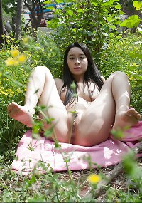 Chinese girl nude in public